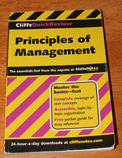 CliffsQuickReview Principles of Management by Ellen A. Benowitz (2001,...