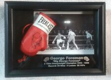 FRAMED MINI BOXING GLOVE WITH GEORGE FOREMAN'S AUTOGRAPH LIMITED PRINT EDITION