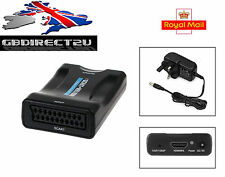 1080P Scart To HDMI MHL Converter Audio Video Adapter HD TV DVD Sky Box STB UK