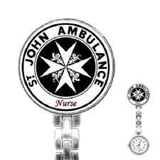 ST. JOHN AMBULANCE NURSE'S WATCH -  CUSTOMISED WITH ANY NAME - FANTASTIC ITEM