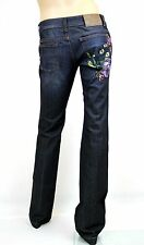 $795 NEW Authentic Gucci Denim Jeans 70's Pants w/Flower Embroidery, 38, 297731