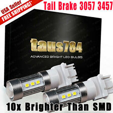 2 X 1400 Lumens 3157 6000K Xenon White Tail Brake Stop LED Lights Bulbs 12V -24V