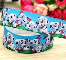 "BTY 7/8"" Cute Disney 101 Dalmatians Grosgrain Ribbon Hair Bows Lanyards Lisa"