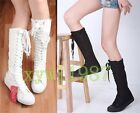 Women Girls Dancing Shoes PUNK Canvas Flat Tall Boots Zip Lace Up Good Sneaker