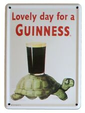 GUINNESS TURTLE Small Vintage Metal Tin Pub Sign