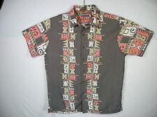 Quiksilver Aloha Shirt, Rayon/Polyester blend,  sz L