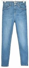 Topshop SUPER SKINNY JAMIE High Waisted Blue Stretch Jeans Size 10 W28 L32