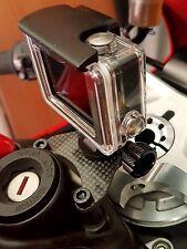 DUCATI PANIGALE 1299 1199 959 899 supporto Gopro, action cam,carbonio CON RIALZI