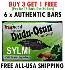 6 Bars Pack Dudu-Osun African Black Soap All Tropical Natural Ingredients 150g