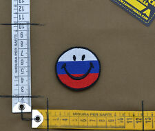"""Ricamata / Embroidered Patch Russian """"Smile"""" with VELCRO® brand hook"""