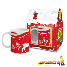 CHRISTMAS MUG - DEERS - IN GIFT BOX - REINDEER - EX16/SP05 - 300ml