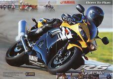 Prospekt 2003 Yamaha YZF R6 Motorradprospekt Motorrad brochure Japan Asien bike