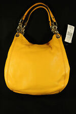 NWT-MICHAEL KORS Fulton Chain VINTAGE Yellow Leather Medium Handbag+HasTag