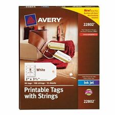 """Avery Printable Marking Tag - 2"""" X 3.50"""" - 64/pack - Card Stock - White"""
