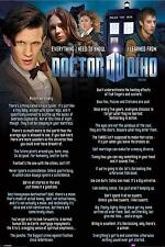 DOCTOR WHO FILMPOSTER EVERYTHING I NEED TO KNOW I LEARNED FROM DOCTOR WHO