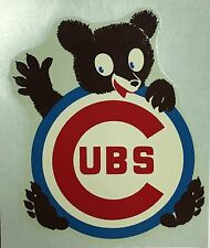 1960s Chicago Cubs Wrigley Field Bears 4.25x3.5 Decal Sticker Vintage Baseball