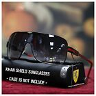 NEW MENS SHIELD SUNGLASSES OVERSIZED SPORTY DESIGN FULL-RIMMED METAL KHAN SHADE