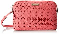 NWT KATE SPADE Mandy Cedar Street Leather Perforated HOT PINK CORAL BAG purse