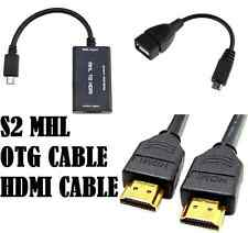 COMBO OFFER OTG + Micro USB MHL to HDMI Female Cable Adapter Galaxy S2 i9100 HTC