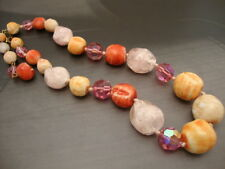 Necklace Celluloid Vintage Multicolored Fabulous Bead Teething Women (WE744)