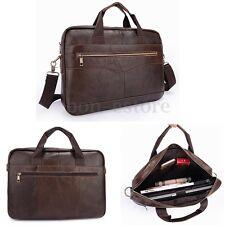 Men Genuine Leather Vintage Briefcase Handbag Shoulder Messenger Shoulder Bag US
