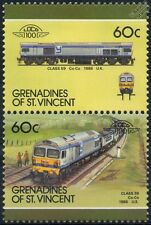 1986 BR Class 59 Foster Yeoman GM EMD Diesel-Electric Train Stamps / LOCO 100