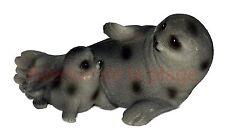 Phoque et son bébé en résine, décoration style marin, thème mer pas cher neuf
