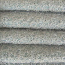 """1/6 yard INTERCAL Soft Blue 1/2"""" Ultra-Sparse Curly Matted Mohair Bear Fabric"""