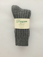 Donegal Dark Grey  - 100% Wool Walking socks  (8 - 12) - New - Made In Ireland
