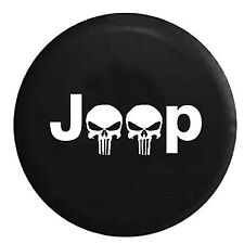 "Skull Spare Wheel Tire Tyre Cover Case Protector 32"" 33"" Fit For Jeep Wrangler"