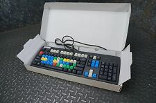LogicKeyboard NMB RT2358TW Video Editing Keyboard - PS2, Black, Colored Keys