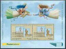 2006 SAN MARINO FOGLIETTO LE DUE REPUBBLICHE CONGIUNTA ITALIA MNH ** - ED