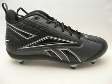 Reebok NFL Equipment Thorpe II Mid D2 Football Cleats 15 Black Carbon FGT Cleat