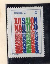 España Viñeta Conmemorativa XII Salon Nautico Barcelona año 1974 (DA-111)