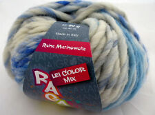 Lana Grossa Ragazza Lei Color Mix 50g Fb 261 Hellblau/Natur/Grau/Blau
