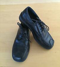 EUC BOY ALDO BLACK LEATHER LACE UP DRESS SHOES EURO 34