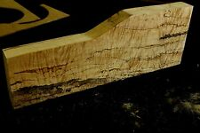 Gorgeous 5A curly spalted ambrosia flame quilted maple guitar top blank #22