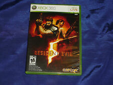 Resident Evil 5  (Xbox 360, 2009) with Book!