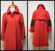 VTG FAIRBROOKE/Alvin's True Red Wool Melton Coat Overcoat Trenchcoat Size 6  EUC