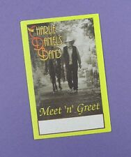 The Charlie Daniels Band - Original Meet 'n' Greet Tour Pass   - Unused Stock !