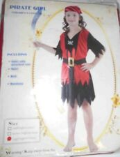 Child Pirate Costume Fancy Dress Girls Book Week Age 8 - 9 NEW 4019