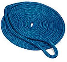 "1/2""x15' Blue Double Braid Dock Line"