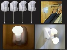 4 PACK LED CUPBOARD LIGHT BATTERY OPERATED LAMP CABINET SHED STICK ON BATTERY