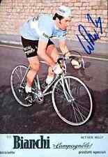 WILLY IN'T'VEN BIANCHI CAMPAGNOLO 1975 Signed Autographe cycling Signé cyclisme