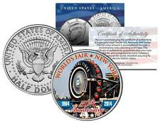 1964 NY WORLD'S FAIR 50th Anniversary FERRIS WHEEL TIRE Coin JFK Half Dollar US