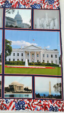 WELCOME TO WAHINGTON DC ~ fabric panel lincoln jefferson white house capital