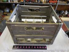 Vintage 1953 Metal / Aluminum Borden's  Milk Bottle Crate