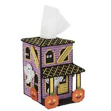 "Plastic Canvas Kit ""Haunting Fun"" Tissue Box Cover Halloween   NIP"