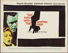 MAN WITH THE GOLDEN ARM half sheet movie poster 22x28 FRANK SINATRA SAUL BASS