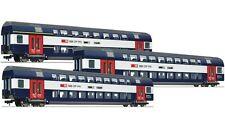 Roco 64133  Doppelstockwagen-Personenwagen Set 3-tlg. SBB Ep6 weiß-blau  H0-AC